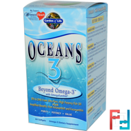 Oceans 3, Beyond Omega-3 with OmegaXanthin, Garden of Life, 60 Softgels