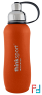 Thinksport, Insulated Sports Bottle, Orange, Think, 25 oz (750ml)