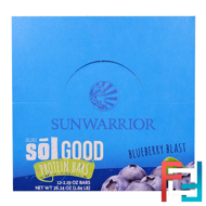 Organic Sol Good Protein Bars, Blueberry Blast, 12 Bars, Sunwarrior, 2.19 oz Each