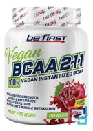 BCAA 2:1:1 VEGAN instantized powder, Be First, 200 g