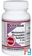 Melatonin Chewable Tablets, Kirkman Labs, 3 mg, 150 Tablets