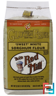 'Sweet' White Sorghum Flour, Gluten Free, Bob's Red Mill, 22 oz, 623 g
