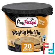 Mighty Muffin, with Probiotics, Peanut Butter, FlapJacked, 1.94 oz (55 g)