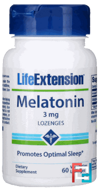 Melatonin, Life Extension, 3 mg, 60 Lozenges