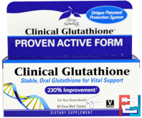 Clinical Glutathione, EuroPharma, Terry Naturally, 60 Slow Melt Tablets