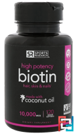 Biotin, 10,000 mcg, Sports Research, 120 Veggie Softgels