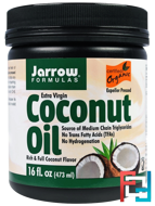 Organic, Extra Virgin Coconut Oil, Jarrow Formulas, 16 oz, 473 g