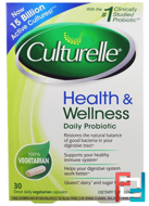 Health & Wellness Probiotic, Culturelle, 30 Vegetarian Capsules