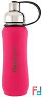Thinksport, Insulated Sports Bottle, Dark Pink, Think, 17 oz (500 ml)