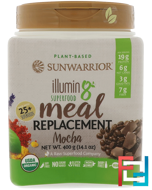 Illumin8, Plant-Based Organic Superfood Meal Replacement, Mocha, Sunwarrior, 14.1 oz (400 g)