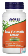 Saw Palmetto Extract, Now Foods, 320 mg, 90 Veggie Softgels