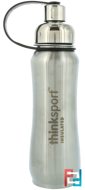 Thinksport, Insulated Sports Bottle, Silver, Think, 17 oz (500ml)