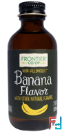 Banana Flavor, Non-Alcoholic, Frontier Natural Products, 2 fl oz, 59 ml