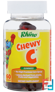 Rhino, Gummy Chewy C, Plus Zinc & Echinacea, Nutrition Now, 60 Gummy Bears