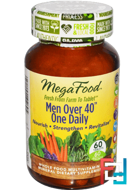 Men Over 40 One Daily, Iron Free, MegaFood, 60 Tablets